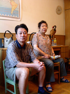 Ya Weilin, left, and Zhang Zhenxia, mother of Ga Aiguo, Beijing, China, August 2003.Ya Weilin, aged 73, committed suicide by hanging himself on 28 May 2012.