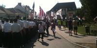 デベチェールで8月5日、極右派が呼びかけたデモに1000人以上が集まった。