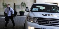 8月18日にダマスカス入りした国連の化学兵器調査団(C)LOUAI BESHARA/AFP/Getty Images