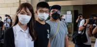 香港の民主活動家3人の無罪釈放を