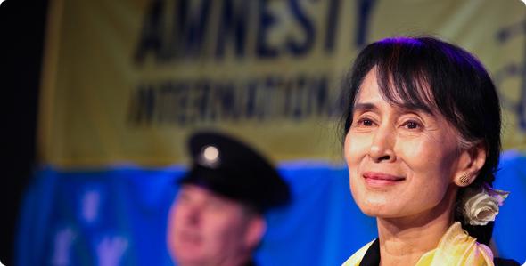 ビルマの非暴力民主化運動を牽引してきたスーチーさん