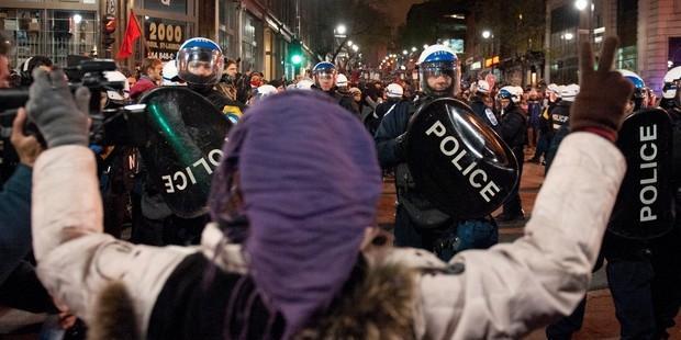 ケベック州は、警察に前例のない権力を付与する新法を制定した。© ROGERIO BARBOSA/AFP/GettyImages