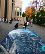 2016年12月に明治大学で開催した3D展示の様子
