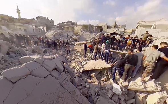 シリアの紛争地
