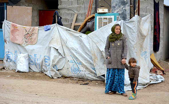 イラクの難民キャンプ