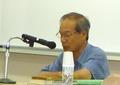 講演する精神科医 野田正彰氏