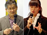 講師の青砥恭さん(左)と岡村千恵子さん(右)