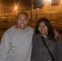 妻と3年ぶりに再会を果たしたアドリアン・バスケスさん