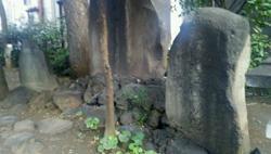 吉田松陰終焉の地の碑