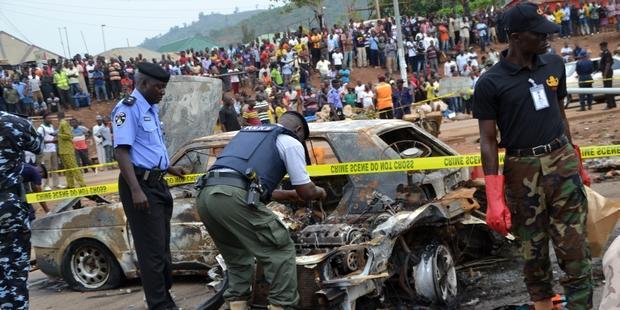 ニャニャ郊外で起こった今回の爆破で、19名が命を落とし60名以上が負傷した。 © AFP/Getty Images