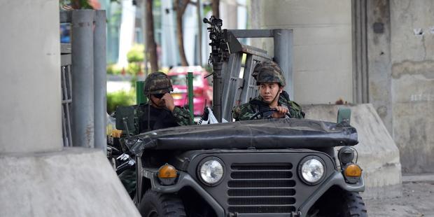 5月20日にタイで発令された戒厳令は、軍に広範囲の権限を与えるものだ。 © Rufus Cox/Getty Images.