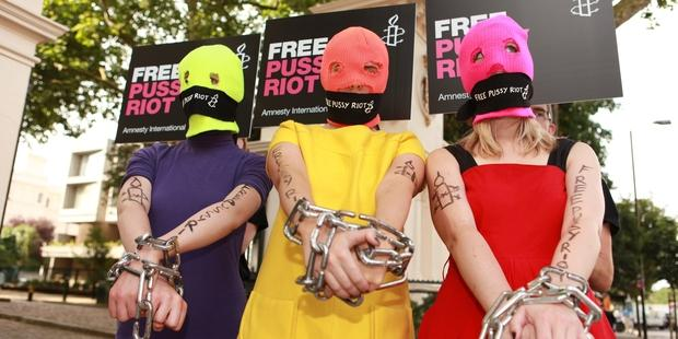 More than 100 musicians from around the world have urged the Russian authorities to release the jailed members of Pussy Riot. © Amnesty International/Imran Uppal
