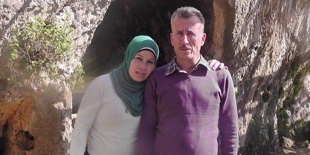 "Nariman Tamimi, Bassem's wife said that ""the police were brutal"" during his arrest (C)private"