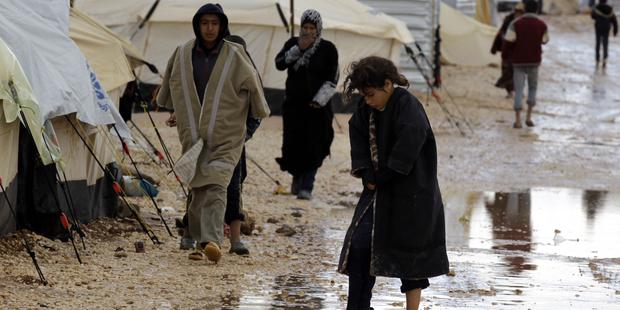 Many refugees face extreme hardship in harsh winter conditions like the recent flooding of camps in Jordan© AFP/Getty Images