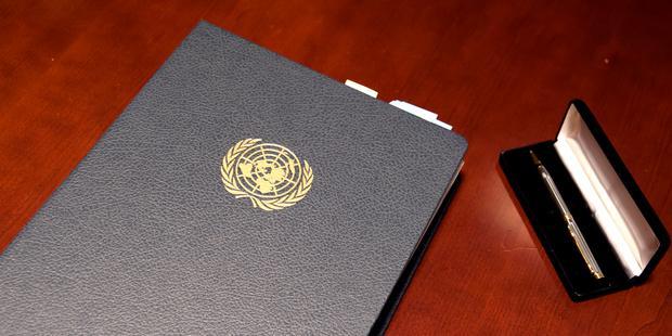 昨年6月3日、国連で武器貿易条約の署名が開始された。(C) Amnesty International