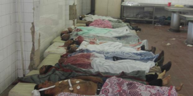 2日間で90遺体が運び込まれた(C) Amnesty International