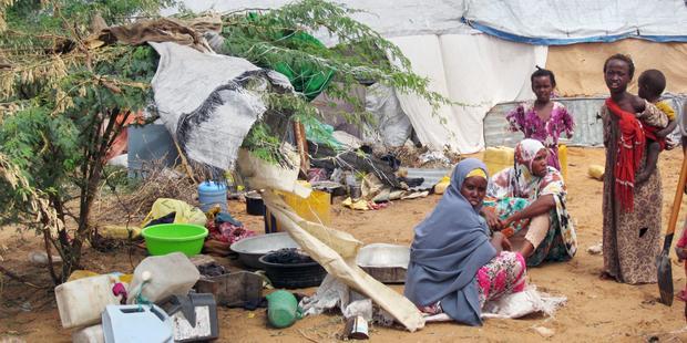 モガディシュにいる国内避難民 (C)Amnesty International