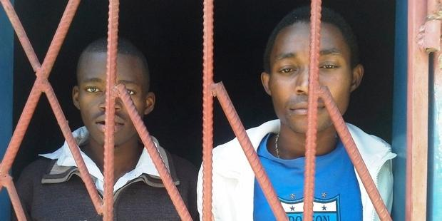 "James Mwape and Philip Mubiana, were freed today after having been held for over a year after being charged with having sex ""against the order of nature"".(C) Private"