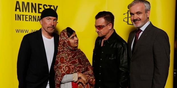 2013年、マララさんは「良心の大使」賞を受賞した。(C) Amnesty International - Robbie Reynolds