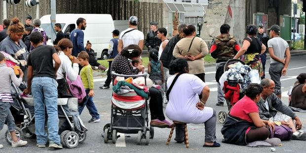 More than 200 Roma living at the Bobigny camp are set to be evicted.(C) Francine Bajande
