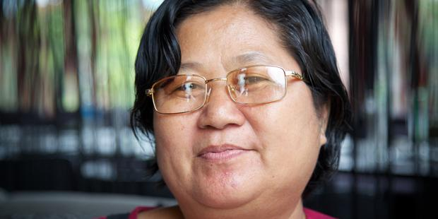 Naw Ohn Hla is amongst the prisoners of conscience released in Myanmar today. (C) Flora Bagenal