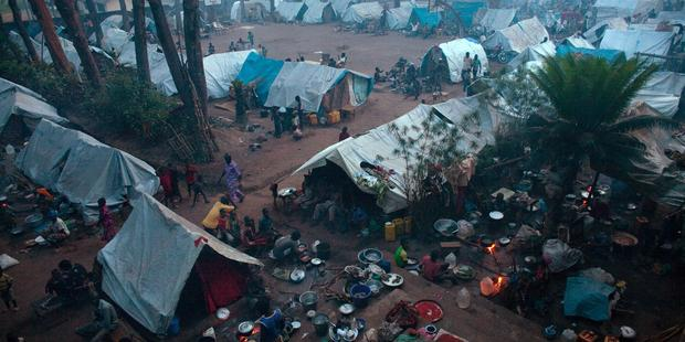 Tens of thousands of people have been displaced by the violence gripping Central African Republic.(C) MATTHIEU ALEXANDRE/AFP/Getty Image