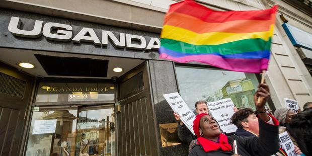 ウガンダでは反同性愛法のもとで人権侵害が急増している。(C)Guy Corbishley / Demotix