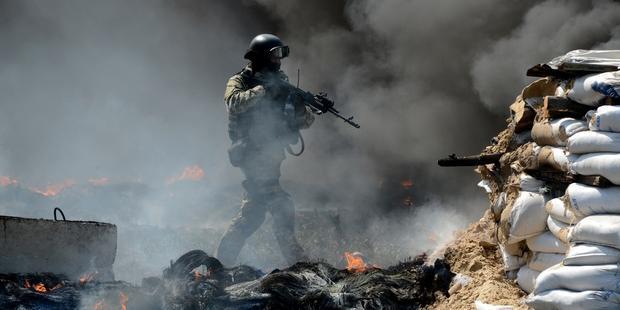 ウクライナ当局は東部で治安出動し、5人が死亡したと発表した。(C) KIRILL KUDRYAVTSEV/AFP/Getty Images