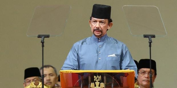 runei Darussalam's new Penal Code, announced by Sultan Hassanal Bolkiah, will come into force Thursday.(C)STR/AFP/Getty Images