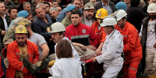 Some 245 men are reported to have died with 80 injured after an explosion at a coal mine in Soma, west Turkey.(C)Ahmet Sik/Getty Images