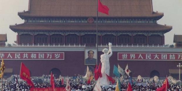 6月3日に弾圧が始まるまで、天安門広場には民主化を求める人びとが結集していた。(C)Hong Kong Alliance