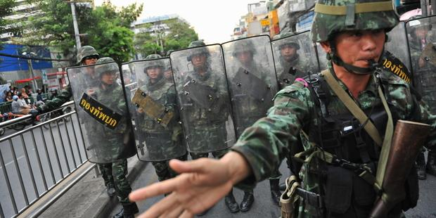 Martial law has been in place in Thailand since 20 May 2014.(C) 2014 Getty Images