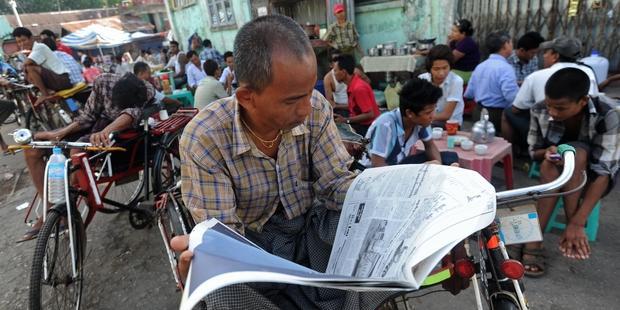 異論封じに厳格な法律を適用する当局の姿勢は以前と変わっていない。 (C) Soe Than WIN/AFP/Getty Images