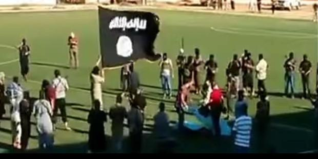 The video appears to show an execution-style killing organized by an armed group.(C)YouTube/Libyan Proud