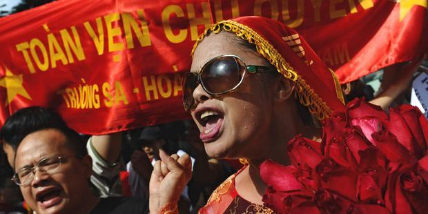 ブイ・チー・ミン・ハンさんは反中国を唱える著名な活動家だ。(C)AFP/Getty Images