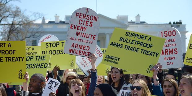 The global Arms Trade Treaty will soon become legally binding now that 50 states have ratified.(C) AFP/Getty Images