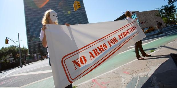 Governments gathered at the UN are in the last week of negotiations for a historic Arms Trade Treaty.(C)Control Arms Coalition/Andrew Kelly