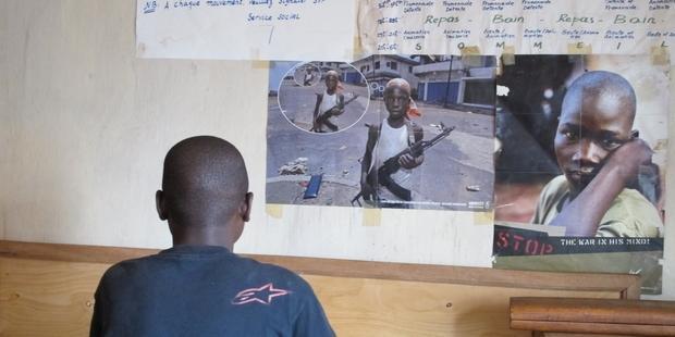 コンゴ民主共和国の元子ども兵士(2011年3月) (c)AI