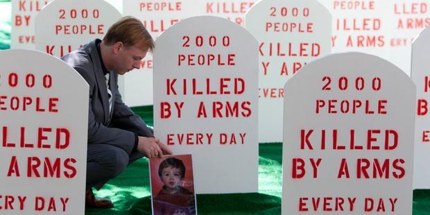 圧倒的多数の国が、世界の武器貿易を規制するこの歴史的な条約を支持している。(C) Control Arms/ Andrew Kelly