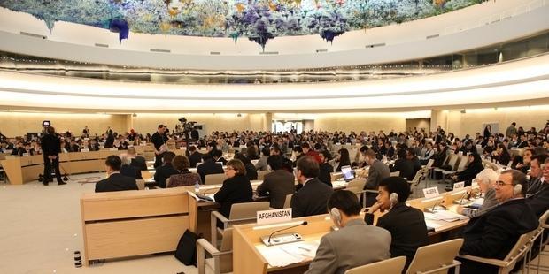国連人権理事会で、マレーシアの非政府人権団体連合が国内の人権状況を厳しく批判した。(C) Eric Bridiers/U.S