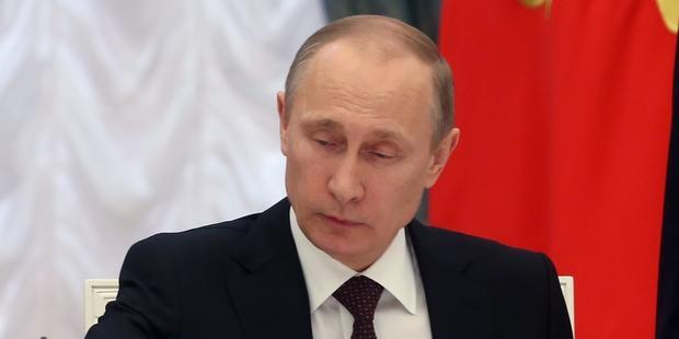 外国エージェント法を導入したプーチン大統領 (C)AFP/Getty Images