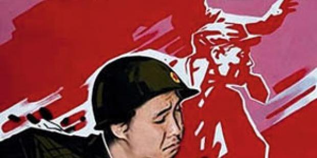 パク・ジュングンがツイッターに投稿した、北朝鮮の兵士の風刺画。この投稿で、彼は10ヶ月の懲役を言い渡された。(C)AI