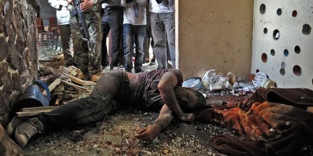 カブール郊外のホテルが襲撃され、民間人15人が犠牲になった(C)AI