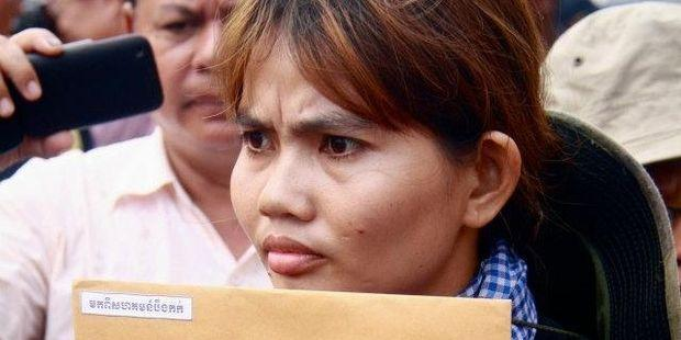 Yorm Bopha (pictured) and Tim Sakmony face trial in Phnom Penh on 26 December(C)Jenny Holligan