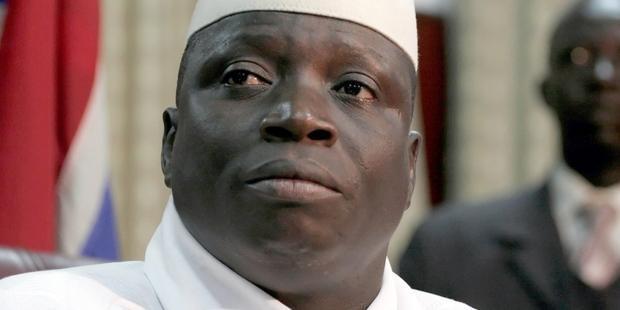 ガンビアのヤヤ・ジャメ大統領大統領。