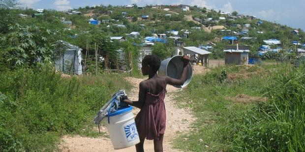 Conditions remain dire for many of those displaced by the devastating January 2010 Haiti earthquake(c)AI
