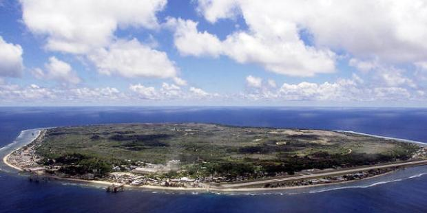 The Pacific Island of Nauru where aslyum seekers are being detained. (c) AFP/Getty Images