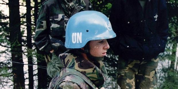 オランダ最高裁の判決は、国際的な平和維持軍の行動の中でも各国が責任を負うということを明確にした。(C) ED OUDENAARDEN/AFP/Getty Images