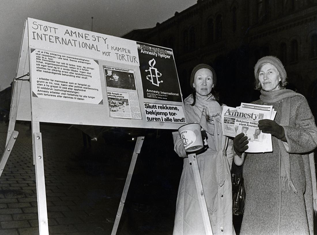 拷問撲滅を訴えるキャンペーン。アムネスティは拷問を例外なく明確に禁じ、拷問した者を罪に問うことができる条約を作るよう、国際世論に訴え、国連に要請。条約の草案作りにも深く関わった。