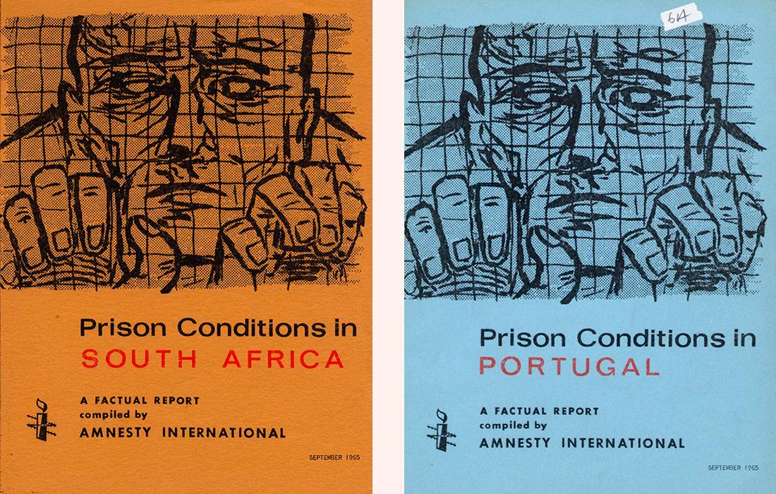 ポルトガル、南アフリカの刑務所環境に関する最初の報告書の表紙